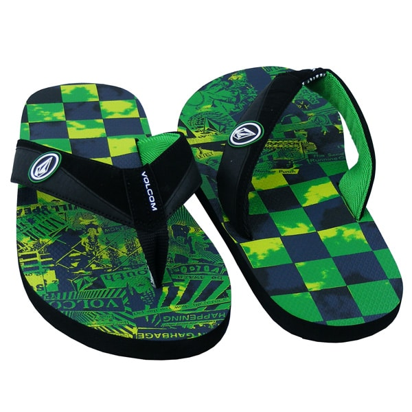 Volcom Vocation Creedlers Flip Flops (green)