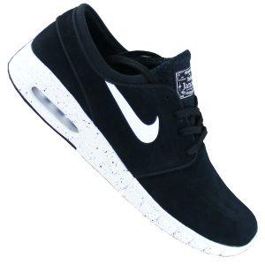 Nike SB Stefan Janoski Max Leder schwarz weiß