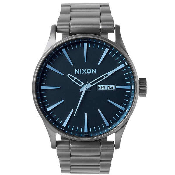 Nixon The Sentry SS Quarzuhr 2015 (gunmetal blue crystal)