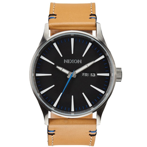 Nixon The Sentry Leather Qurzuhr 2015 (natural black)