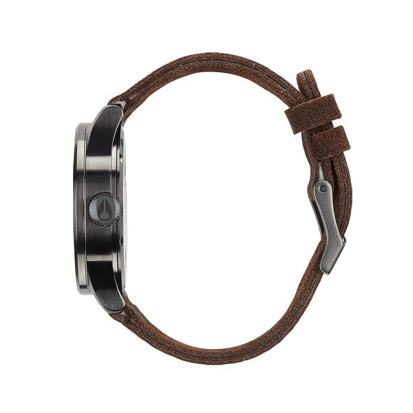 Nixon The Sentry Leather Qurzuhr 2015 (gunmetal brown)