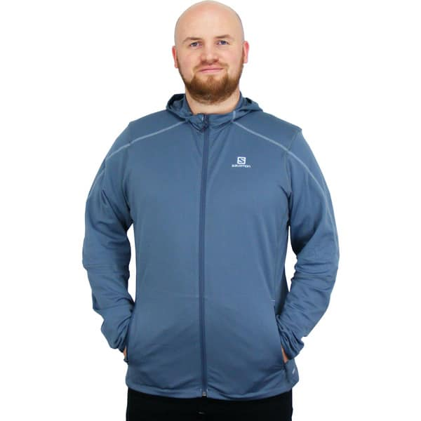 Salomon Discovery Hooded Microfleece Winterjacke (bleu gris)