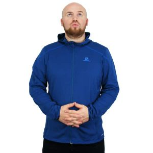 Salomon Discovery Hooded Microfleece Winterjacke 2015 (midnight blue)