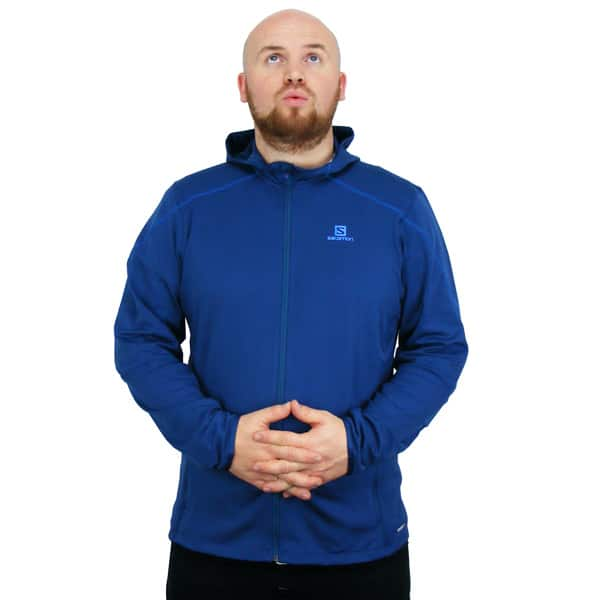 Salomon Discovery Hooded Microfleece Winterjacke (midnight blue)