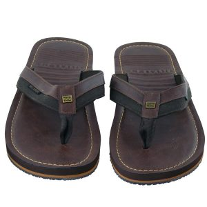 Billabong Seaway Leder Flip Flops (chocolate)