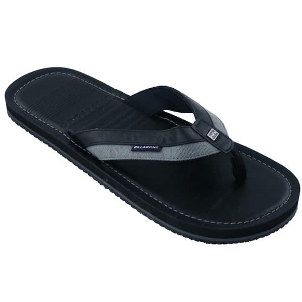 Billabong Seaway Leder Flip Flops (black)