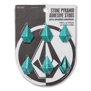 Volcom Stone Pyramid Adhesive Studs (glacier blue)
