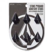 Volcom Stone Pyramid Adhesive Studs (schwarz)