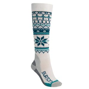 Burton Frauen Ultralight Wollsocken Snowboardsocken (stout white)