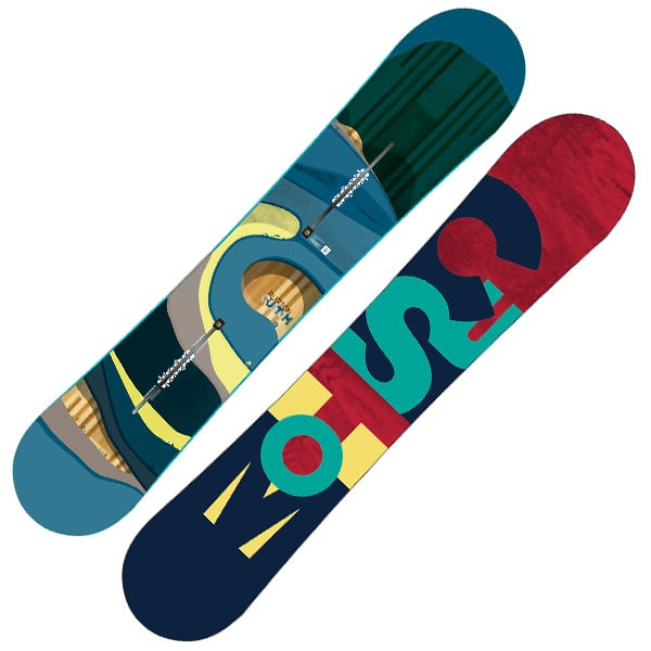 Burton Custom Snowboard 151cm (blue waves)