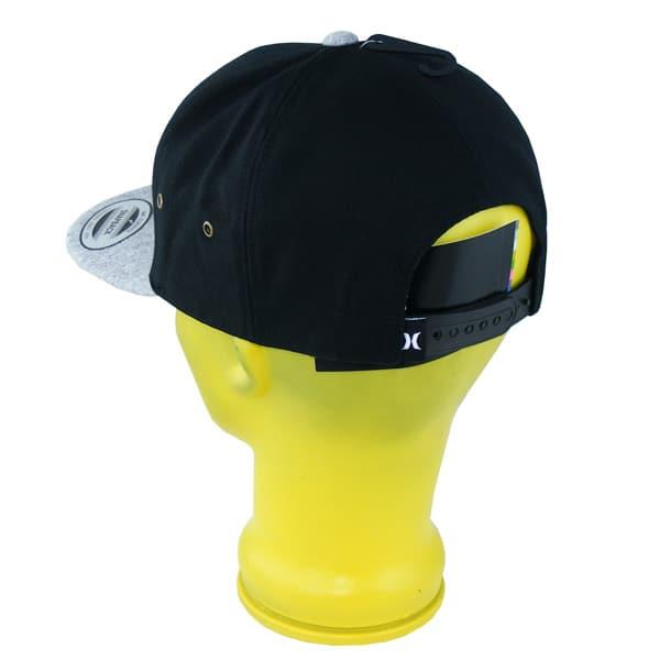 Hurley Icon Vapor 2.0 Snapback Cap (black grey)