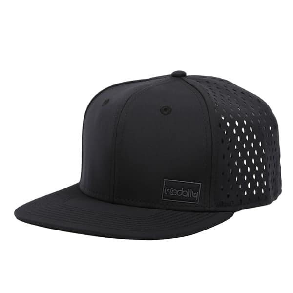 Iriedaily Laser Patch Snapback Cap (black)