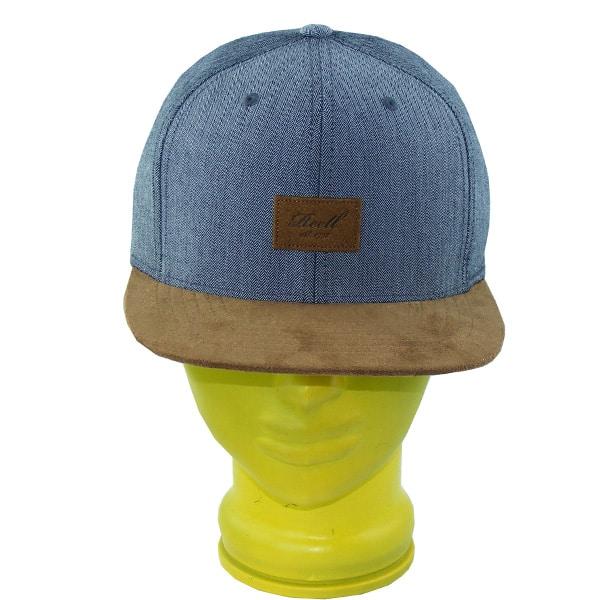 Reell Suede Snapback Cap (herringbone grey)