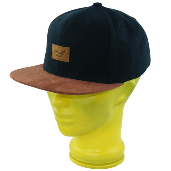 Reell Suede Snapback Cap (black)