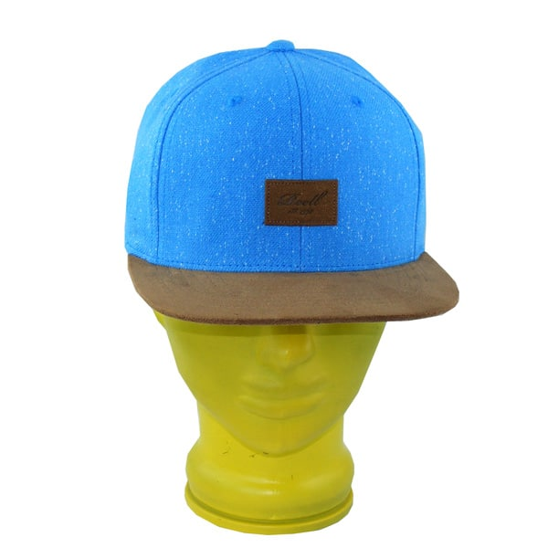 Reell Suede Snapback Cap (speckled light blue)
