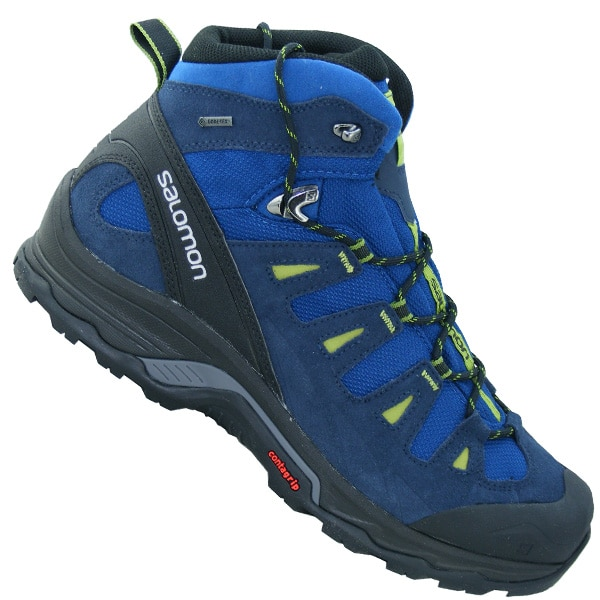 Salomon Quest Prime GTX Wanderboots Outdoorschuhe (midnight blue deep blue turf green)