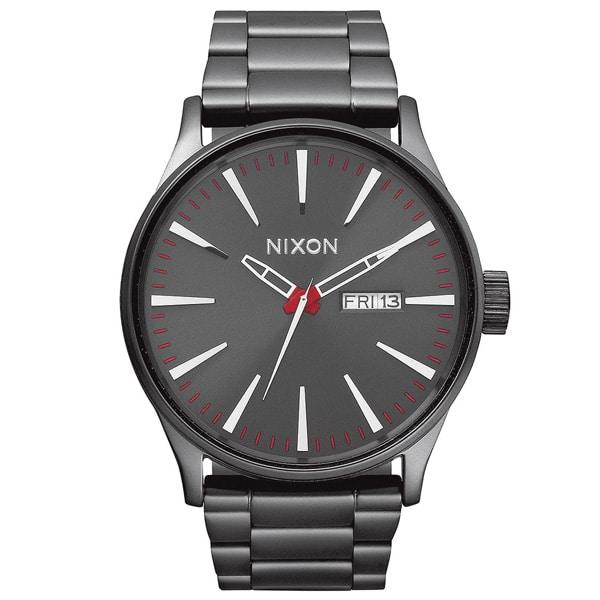 Nixon Sentry SS Armbanduhr für Herren dunkel grau