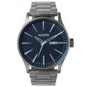 Nixon Sentry SS Herren Armbanduhr dunkel grau blau