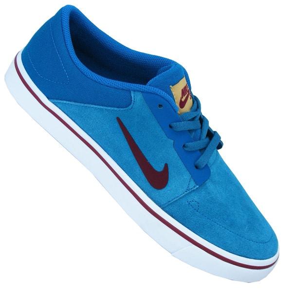 Nike SB Portmore Herren Sneaker blau weiß