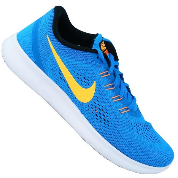 Nike Free Damen und Herren Sneaker Sale blau gelb