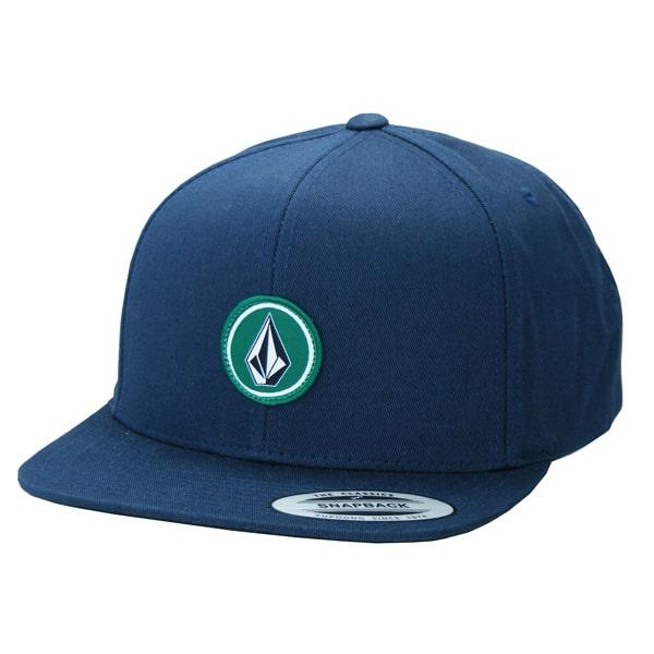 Volcom Classic Quarter Twill Snapback Cap graublau