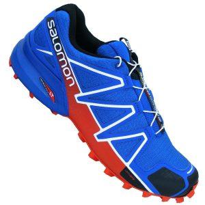 Salomon Speedcross 4 Herren Outdoor Schuhe blau rot weiss