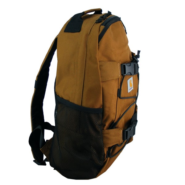 eine Seitentasche und Netztasche,seitlich