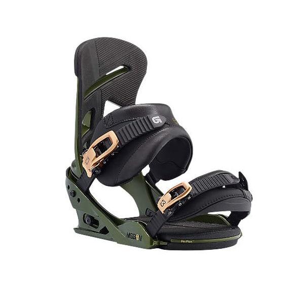 Burton Snowboardbindung Mission grün schwarz