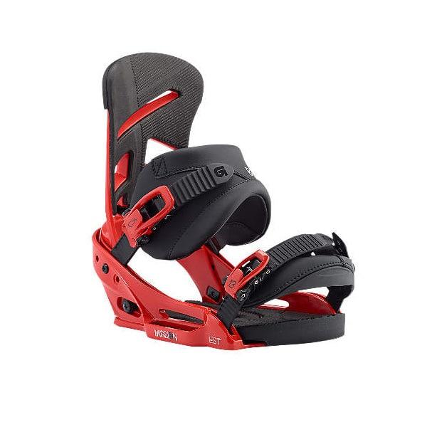 Burton Mission EST Snowboard Bindung rot schwarz