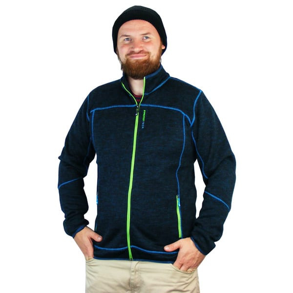 Die Protest Pogress Fleece Jacke in royal blue