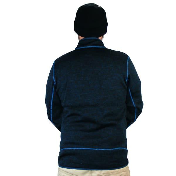 Die Pogress Fleece Jacke mit in gün gehaltenen durchgehenden Reißverschluss