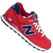 Der neue 574 Lifestyle Sneaker in rot