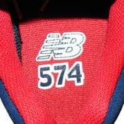 mit NB 574 Logo im Innenschuh