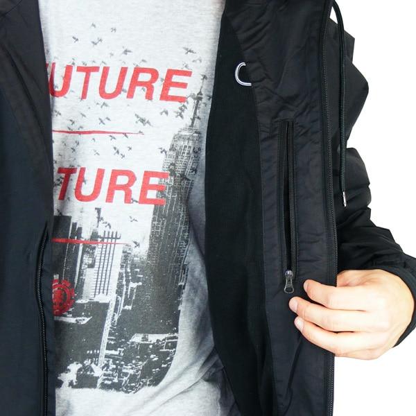 Seitentasche und Innentasche mit Zipper