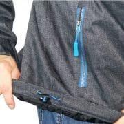 seitliche Einschubtaschen mit farbigen Zipper
