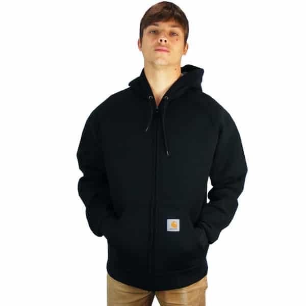 klassische Carhartt Car Lux Hooded Thermo Jacke in schwarz