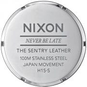 "Nixon "" Never Be Late"" The Sentry Leather"