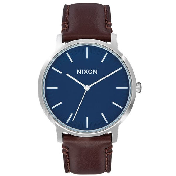schicke Nixon Porter Leather Herren Armbanduhr
