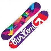 mehrfarbige Burton Genie Snowboard Damen 2016 mit 147cm