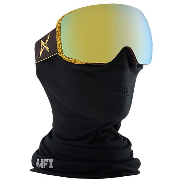 Anon M2 MFI Snowboardbrille mit Windschutzhaube und Zubehör