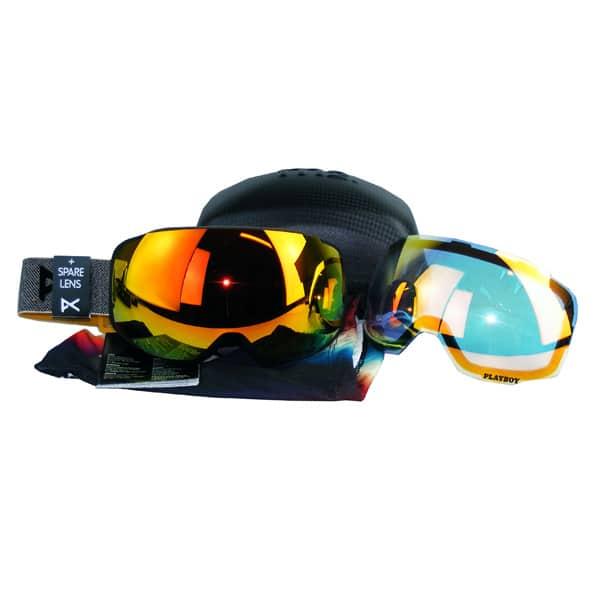 Anon Playboy Snowboardbrille mit Windschutz und Zubehör