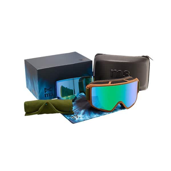 Anon M3 Snowboardbrille mit umfangreichen Zubehör