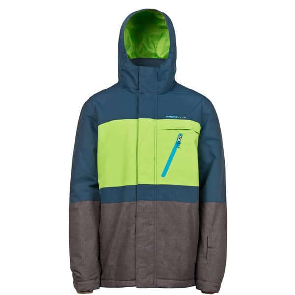 Mehrfarbige Protest Backgrab Snowboardjacke