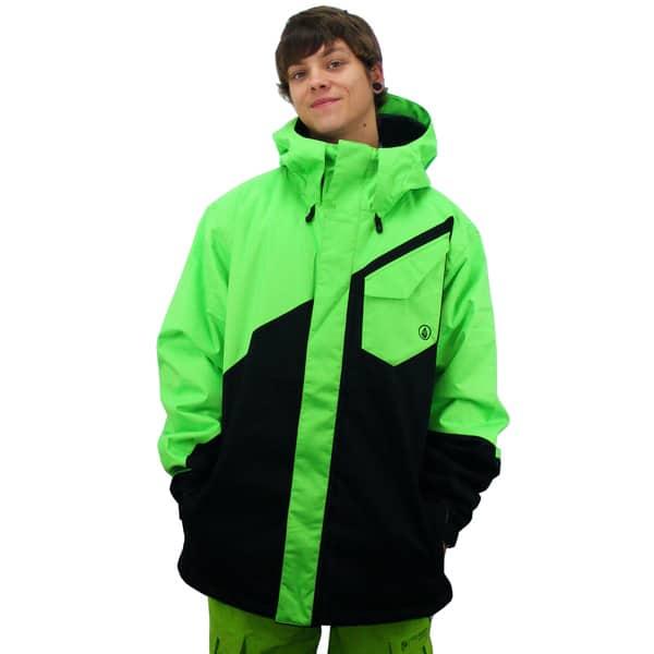 Volcom Snowboardjacke in schwarz grün