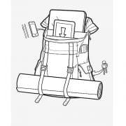 variabler Befestigungsgurt für Jacke, Trainingsmatte usw.