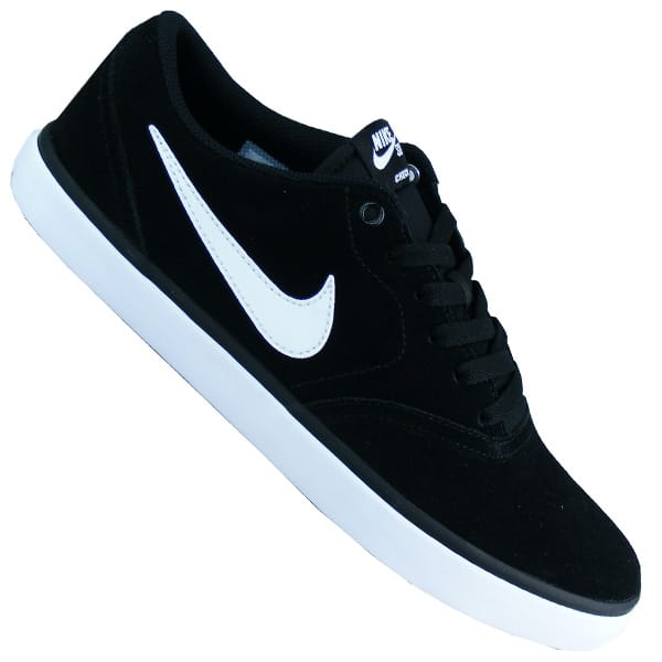 Nike SB Check Solar Sneaker Herren Skateboardschuhe schwarz/weiß