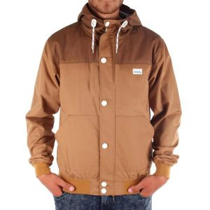 Jacke mit durchgehenden Reißverschluss hinter Druckknopfleiste