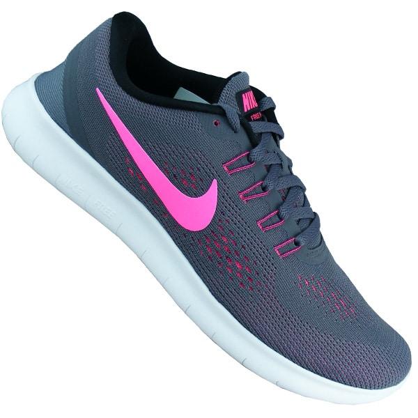 Nike Free Running Damen Laufschuhe grau/pink - meinsportline.de