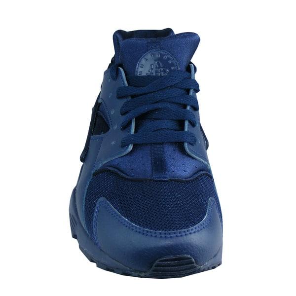 5- Doppelloch Schnürung mit blauen Schnürsenkeln