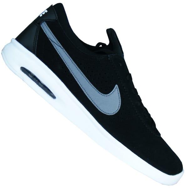 Nike SB Air Max Bruin Vapor Herren Skateboarding Schuhe schwarzgrauweiss